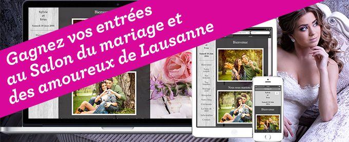 Mariage.ch vous offre des invitations pour le Salon du Mariage et des amoureux qui aura lieu du 22 au 24 janvier 2016 au Palais de Beaulieu à Lausanne.